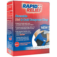 Rapid Relief Universal Reusable Hot/Cold Compress Wrap 5in x 10in Ref RA11250