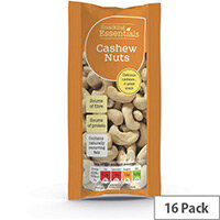 Snacking Essentials 50g Cashew Nuts Pack of 16