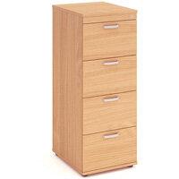 Impulse 4 Drawer Filing Cabinet WxDxH 500x600x1445mm Beech