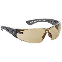 Bolle Rush+ RUSHPTWI Safety Glasses Twilight with Platinum Coating Ref BORUSHPTWIPLUS
