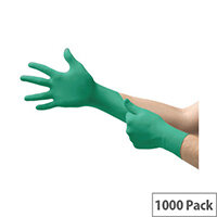 Ansell TouchNTuff 92-600 Size 9 L Robust Disposable Nitrile Gloves Green Pack of 1000 Ref AN92-600L