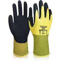Wonder Grip WG-310H Comfort Hi-Vis Glove Small Yellow Ref WG310HSYS Pack of 12