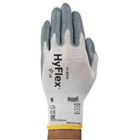 Ansell HyFlex 15 Gauge, Size 11 Multi-Purpose Palm Coated Light-Duty Work Gloves Grey/White