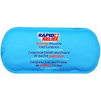 Rapid Relief Premium Reusable Cold Compress 5in x 11in Blue Ref RA11251