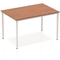 Rectangular Table Walnut with Silver Frame 1200x800mm