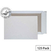 Purely Packaging C5 White Envelopes Board Backed P&S 120gsm (Pack 125)