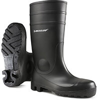 Dunlop Protomastor Safety Wellington Boot Steel Toe PVC Size 9 Black Ref 142PP09