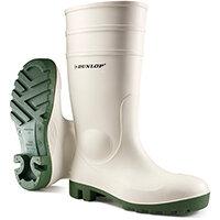 Dunlop Protomastor Safety Wellington Boot Steel Toe PVC Size 10 White Ref 171BV10