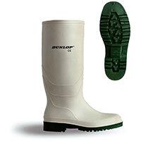 Dunlop Pricemastor Wellington Boot Size 9 White Ref BBW09