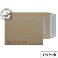 Purely Packaging Envelope Board Backed P&S 120gsm C5 Manilla Ref 5112 [Pack 125]