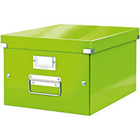 Leitz Click & Store Collapsible Storage Box Medium For A4 Green Ref 60440054