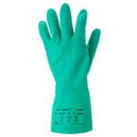Ansell AlphaTec Solvex Size 7 Chemical Resistant Work Gloves Green