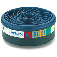 Moldex Abek1 7000/9000 Particulate Filter EasyLock System Blue Ref M9400 Pack of 5