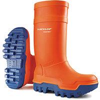 Dunlop Purofort Thermo Plus Safety Wellington Boot Size 7 Orange Ref C66234307