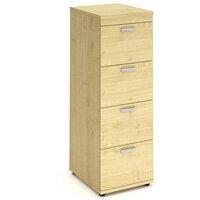 Impulse 4 Drawer Filing Cabinet WxDxH 500x600x1445mm Maple