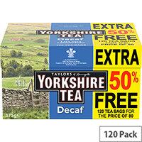 Yorkshire Tea Decaffeinated Ref 0403388 Pack of 120