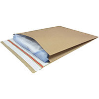 Kraft Mailer Eco V Bottom & Side Gussets Double P&S 500x600x60mm +100 flap Manilla Ref RBL10534 Pack of 50