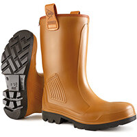 Dunlop Purofort Rigair Safety Rigger Boots Unlined Size 9 Tan Ref C46274309
