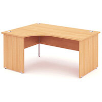 L-Shaped Corner Left Hand Panel End Office Desk Beech W1600mm