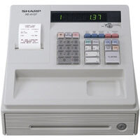 Sharp XE-A137 Cash Register Thermal Print 200PLUs 8-Departments Black