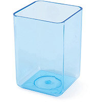 Polystyrene Executive Pen Tidy One Compartment Ice Blue
