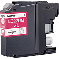 Brother LC22UM XL Yield: 1,200 Pages Genuine Ink Cartridge Magenta Ref LC22UM