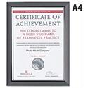 A4 Certificate Frame Smoke Coloured Frame Non-Glass Photo Album Company