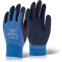 Wonder Grip Water resistant Aqua Glove Medium Blue Ref WG318M Pack of 12