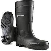 Dunlop Protomastor Safety Wellington Boot Steel Toe PVC Size 12 Black Ref 142PP12