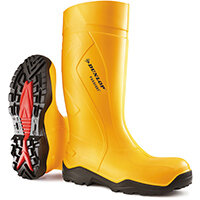 Dunlop Purofort Plus Safety Wellington Boot Size 9 Yellow Ref C76224109