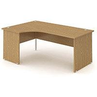 L-Shaped Corner Left Hand Panel End Office Desk Oak W1600mm