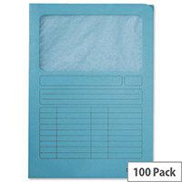 Leitz Window Folder A4 Light Blue 3950-00-30 Pack 100