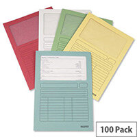 Leitz A4 Window Folder Assorted 3950-99-99 Pack 100