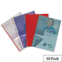 GBC PolyTechno Binding Covers Polypropylene 700 micron A4 Ice White Pack 50