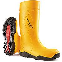 Dunlop Purofort Plus Safety Wellington Boot Size 10 Yellow Ref C76224110
