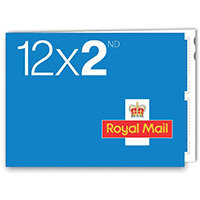 Royal Mail Second Class Stamps [50 x Book of 12]