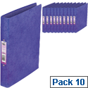A4 Ring Binder Laminated Purple O-Ring and Dividers Capacity 25mm Pack 10 Concord Contrast