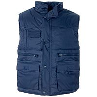 Supertouch Body Warmer Polyester with Padding & Multi Pockets Small Navy Ref 58691