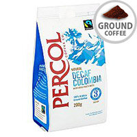 Percol Fairtrade Colombia Decaffeinated Ground Coffee Medium Roasted 200g Ref A07929
