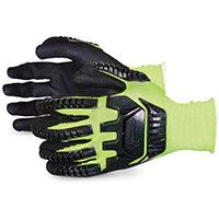 Superior Glove Dexterity Hi-Vis Anti-Impact Black Widow 8 Yellow Ref SUS13YPNVB08
