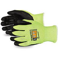 Superior Glove Tenactiv Hi-Vis Micropore Nitrile Grip 10 Yellow Ref SUSTAGHVPN10