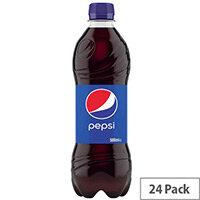 Original Pepsi Cola Regular 500ml Soft Drink Bottles [Pack of 24]