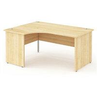 L-Shaped Corner Left Hand Panel End Office Desk Maple W1600mm