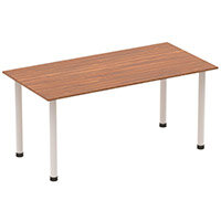 Rectangular Table Walnut with Silver Frame 1600x800mm