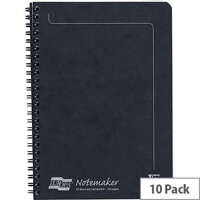 Europa Notemaker Book Sidebound Ruled 80gsm 120 Pages A5 Black Ref 4852Z [Pack 10]