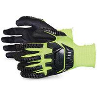 Superior Glove Dexterity Hi-Vis Anti-Impact Black Widow 9 Yellow Ref SUS13YPNVB09