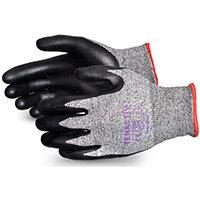 Superior Glove Tenactiv Cut-Resist Composite Knit Nitrile 6 Black Ref SUSTAFGFNT06