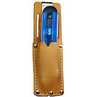 Pacific Handy Cutter Clip On Holster Leather Metal Belt Clip Brown Ref UKH-326