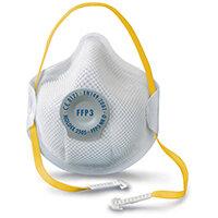 Moldex FFP3V Half Mask ActivForm Seal and DuraMesh Shell White Ref M2505 Pack of 10