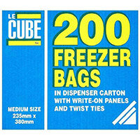 LeCube Food/Freezer Bags Medium Pack of 200